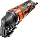 Осциллирующий инструмент Black&Decker MT300KA черно-оранжевый