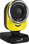 Web-камера для компьютеров Genius QCam 6000, yellow, Full-HD 1080p, USB (32200002403)